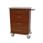 Wood Vinyl Punch Card Medication Cart