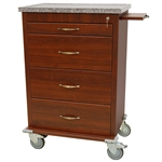 Harloff Wood Vinyl Punch Card Medication Cart