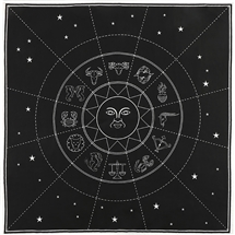 Zodiac Crystal Grid Altar Cloth