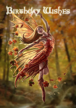 Autumn Fairy Card - 6 Pack