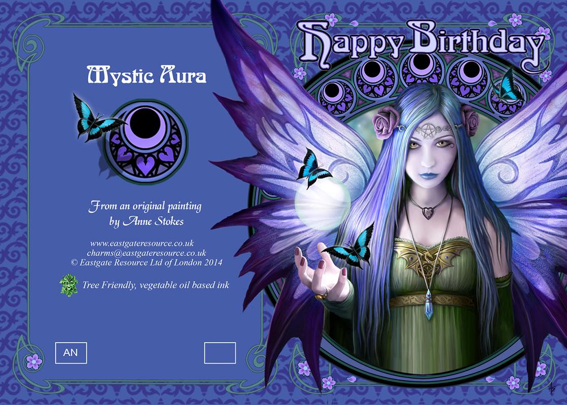 Mystic aura birthday card wholesale m4hsunfo