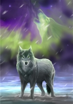 Aura Wolf Card - 6 Pack by Anne Stokes