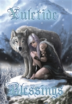 Winter Protector Yuletide Blessing Cards - 6 Pack