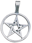 Ringed Pentagram Pendant for Willpower & Success