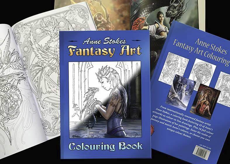 Anne Stokes Fantasy Art Coloring Book