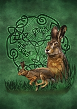 Celtic Hare Card - 6 pack