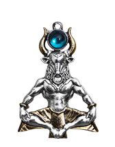 Minotaur for Serenity Through Challenge Pendant by Briar