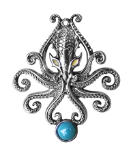 The Kraken for Wild Adventures Pendant by Briar