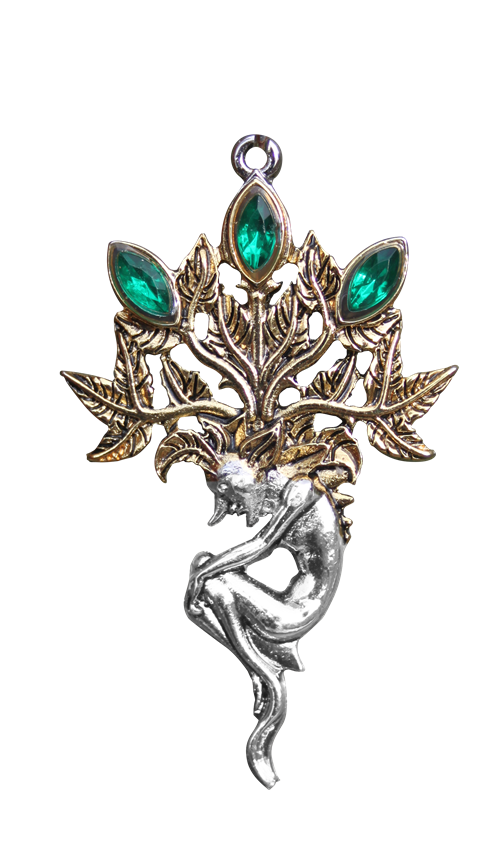 Mandrake for Luck and Wealth Pendant by Briar