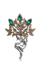 Mandrake for Luck and Wealth Brooch by Briar