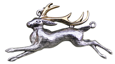 The Jackalope for Warrior's Strength Pendant by Briar