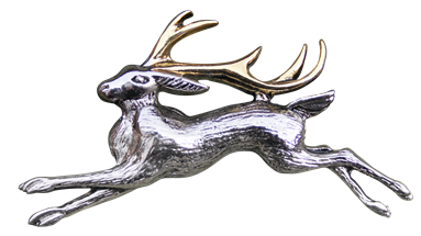 The Jackalope for Warrior's Strength Brooch by Briar