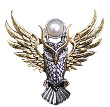 Owl of Athena for Magickal Wisdom Brooch by Briar
