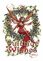 Briar Mistletoe Fairy Midwinter Card - 6 pack