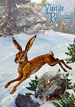 Midwinter Rune Hare Yule Card - 6 Pack