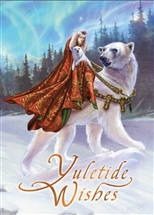 Queen of the Aurora Bears Yuletide Wishes Cards - 6 Pack