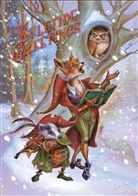 Wildwood Carols Yuletide Greetings Cards - 6 Pack