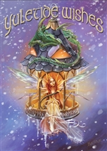 Elf Light Yuletide Wishes Cards - 6 Pack