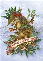 Mr. Hedgely's Yuletide Coat Cards - 6 Pack