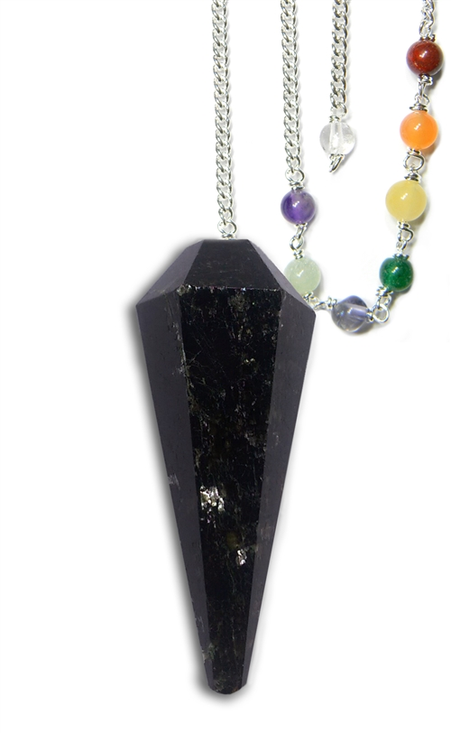 Black Tourmaline Protection Chakra Pendulum