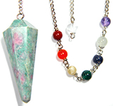 Ruby Fuchite Gemstone Pendulum