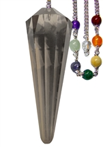 Smokey Quartz Facetted Chakra Pendulum for Grounding and Security