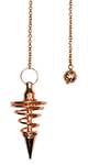 Copper Metal Spiral Pendulum