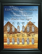 Egyptian Birth Signs Display (Includes one piece of each on display)