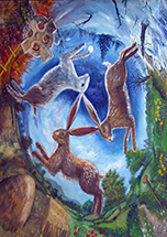 Three Hares Card - 6 Pack