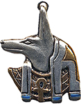 Anubis Amulet for Guidance on Life's Journey