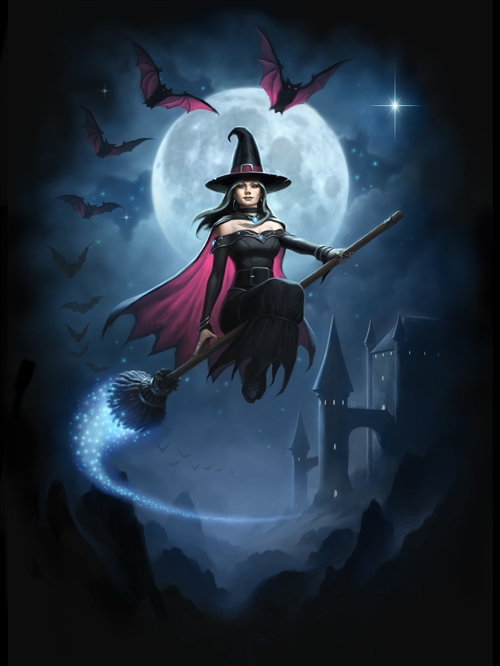 Witch Flight Card - 6 Pack