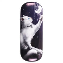 Snow Kitten Eye Glass Case by Linda Jones