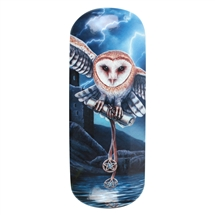 Heart of the Storm (Owl) Eye Glass Case by Lisa Parker