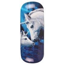 Sacred Love (Unicorns) Eye Glass Case by Lisa Parker