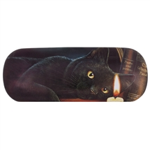 Witching Hour (Black Cat) Eye Glass Case by Lisa Parker