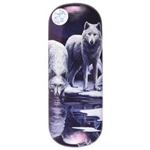 Winter Warriors (Wolf) Eye Glass Case by Lisa Parker