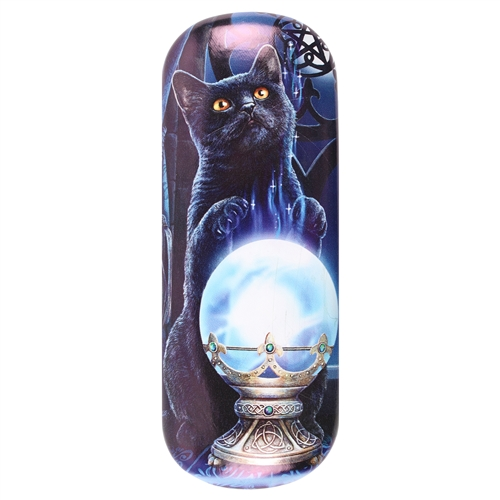 Witches Apprentice (Black Cat) Eye Glass Case by Lisa Parker