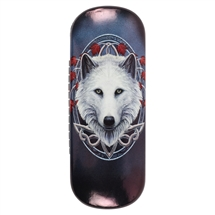Guardian of the Fall (Wolf) Eye Glass Case by Lisa Parker