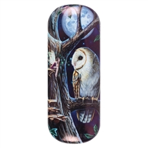 Fairy Tales (Owl) Eye Glass Case by Lisa Parker