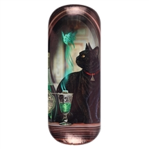 Absinthe (Black Cat) Eye Glass Case by Lisa Parker
