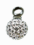 Rhinestone Ball Keepsake Love Vial