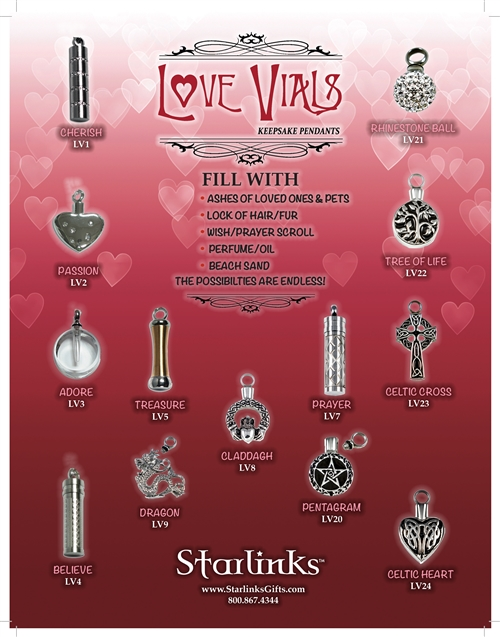 Love Vials Display