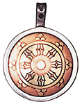 Dharma Wheel Talisman for Perfection & Peace