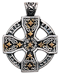 Runic Celtic Cross Pendant for Knowledge and Magical Ability
