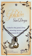 Golden Sun Drops Pendant