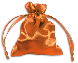 Orange Satin Pouch