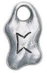 Peorth Rune Charm for Luck in Games of Chance