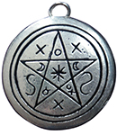 Pentacle of Shadows Pendant for Contact with Earth & Spirit