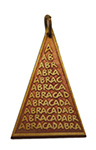 Abraca Triangle Charm for Unexpected Good Fortune