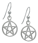 Silver Pentacle Earrings for Protection